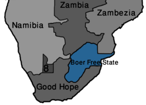 Map Boer Free State (VegWorld)
