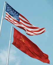 USA-USSR flags