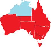 Borders of Australia and Judea