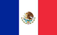 Flag French Mexico