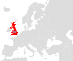 Britain and its colonies in Europe