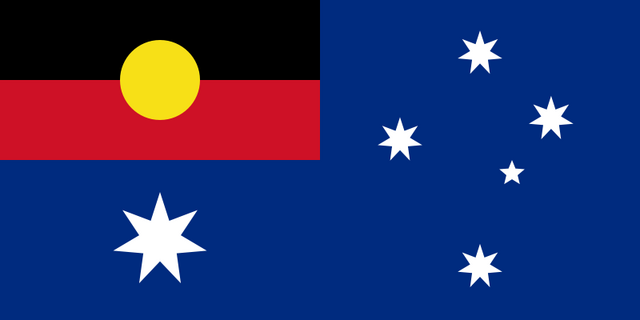 File:800px-Flag of Australia with Aboriginal flag replacing Union flag svg.png