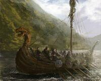 Vikings off of Britain