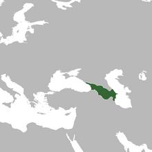 Location of Transcaucasus (or South Caucasus) TNE