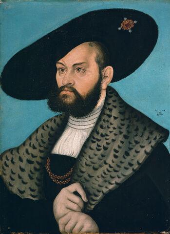 File:Lucas Cranach d.Ä. - Bildnis des Markgrafen Albrecht von Brandenburg-Ansbach (Herzog Anton Ulrich-Museum).jpg