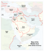 Map of the Middle East (Their British America)