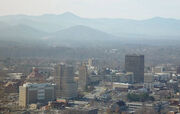 Asheville from town mountain