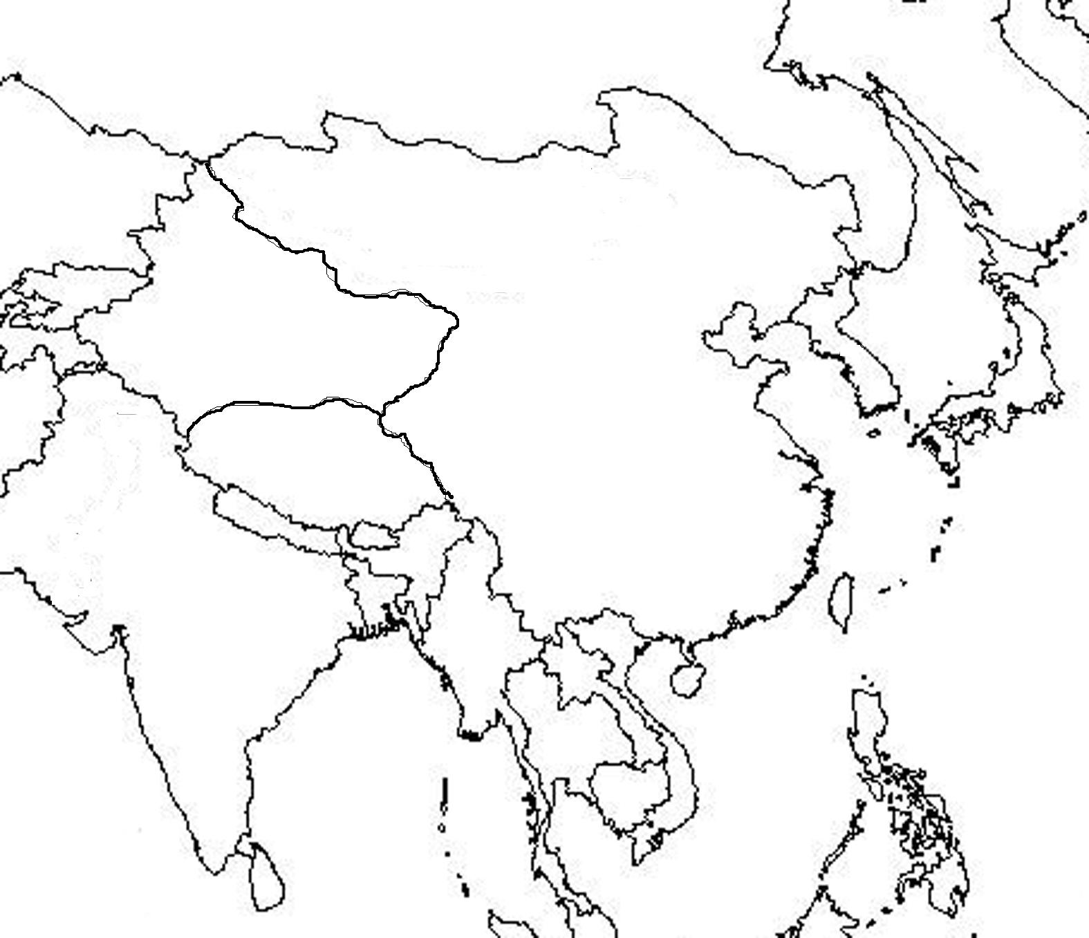 Picture of: Blank Asia Map