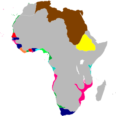 Scramble for Africa Map 1839