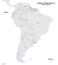 Map of South America (Russian America)