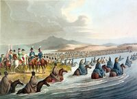 Crossing the Neman in Russia 1812 by Clark