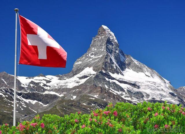 File:Swiss flag Flying.jpg
