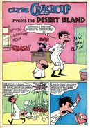 Clyde Crashcup Dell Comic 1 - Invents the Desert Island
