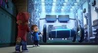 Simon Presenting the Munkmobile