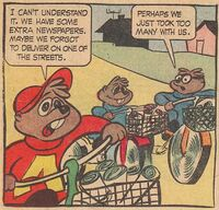 Alvin's Paper Route Scene Illustration