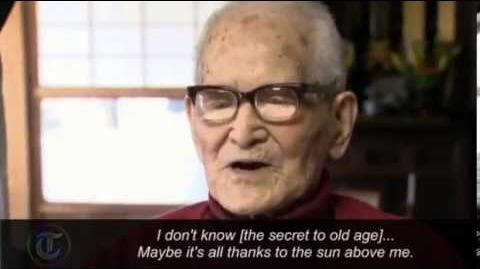 Video of World's Oldest Person Japanese Man 115 Years Old! - 12 27 12