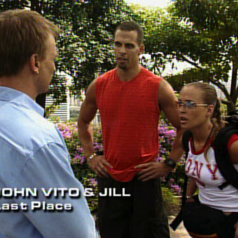 John Vito & Jill were eliminated from the race in 5th place.