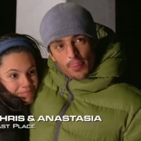Chris & Anastasia were eliminated from the race in 6th place after taking a penalty.