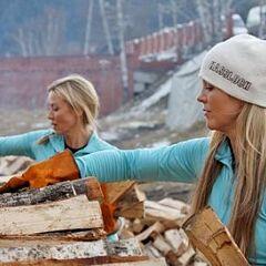 Christie &amp; Jodi doing the <i>Stack</i> Detour in <a href=