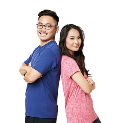 Rei &amp; Keiji's alternate promotional photo for <i>The Amazing Race Asia</i>.