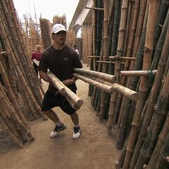 Trey &amp; Lexi doing the <i>Bamboo Jungle</i> Detour in <a href=