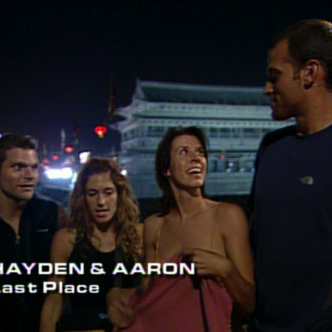 Hayden & Aaron were eliminated from the race in 4th place after taking a penalty.