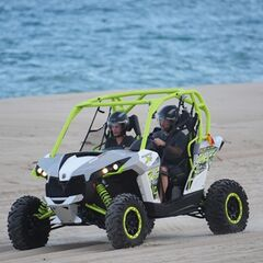 Logan &amp; Chris riding doing Dune buggies in the <a href=