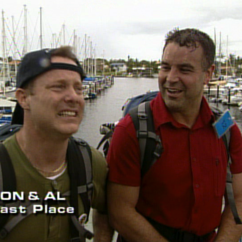 Jon & Al were eliminated from the race in 4th place.