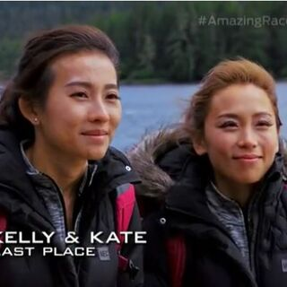 Kelly & Kate are eliminated from the race in seventh place.