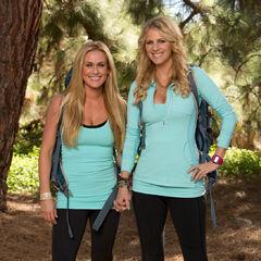 Caroline &amp; Jennifer's alternate promotional photo for <i>The Amazing Race: All-Stars</i>.