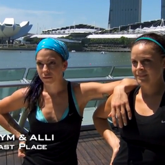 Kym & Alli were eliminated from the race in 5th Place.