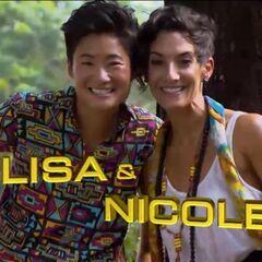 Lisa & Nicole's opening pose.