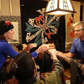 Jeff &amp; Lyda doing the <i>Samurai Sake</i> <a href=