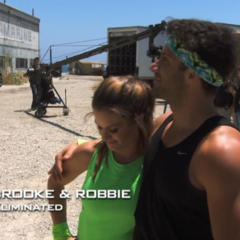 Brooke & Robbie were eliminated in the middle of the final leg in 4th place.