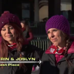 Erin & Joslyn are eliminated from the race in 8th.