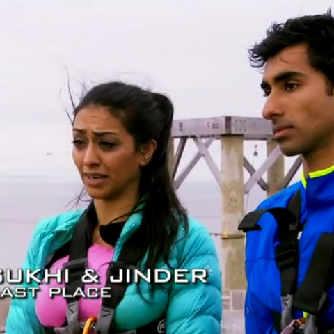 Sukhi & Jinder were eliminated from the race in 4th place.