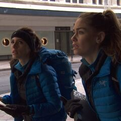 Jessica &amp; Brittany at the Train Station in <a href=