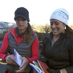 Mona &amp; Beth reading the Roadblock clue in <a href=