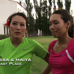 Misa & Maiya were eliminated from the race in 11th place after a huge error.