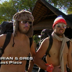 Brian & Greg were eliminated from the race in 6th place.