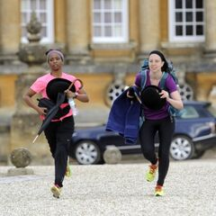 Amy &amp; Maya running to <a href=