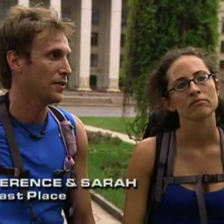Terence & Sarah were eliminated from the race in 5th Place.