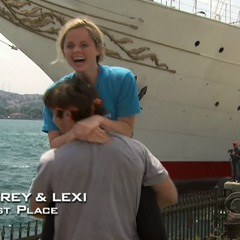 Trey &amp; Lexi celebrate coming in first place on the <a href=