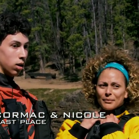 Cormac & Nicole were eliminated from the race in 8th place after Nicole's struggles at a gruelling Roadblock.
