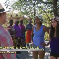 Jazmine & Danielle were eliminated from the race at 8th place.