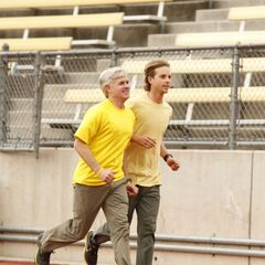 Dave &amp; Connor running to the the <a href=