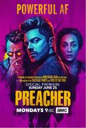 Preacher season 2 premiere poster - Powerful AF