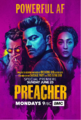 Preacher season 2 premiere poster - Powerful AF.png