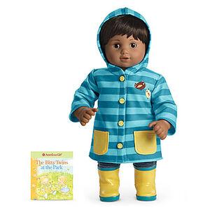 Blue stripes rain gear