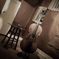 Vivian's cello and a tea cup